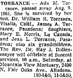 Pasadena Independent, August 10, 1961, page 41, columns 7-8.