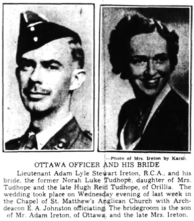 The Ottawa Journal, September 18, 1941, page 10, columns 2-3.