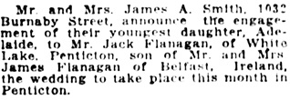 Vancouver Daily World, August 12, 1921, page 7, column 4.