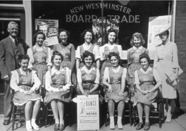 A New Westminster Album: Glimpses of the City as it was; by Gavin Hainsworth, Katherine Freund-Hainsworth; Toronto, Dundern Press, 2005, page 203, Althea Bell, seated, second from left.