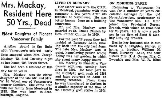 Vancouver Sun, November 30, 1938, page 4, column 3; https://news.google.com/newspapers?id=yfBlAAAAIBAJ&sjid=J4kNAAAAIBAJ&pg=2784%2C4439349.