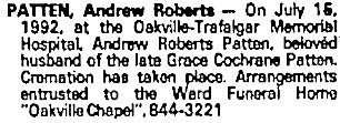 Toronto Globe and Mail, July 20, 1992, page C5, column 6.