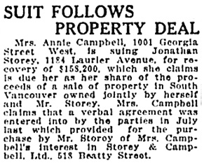 Vancouver Sun, October 2, 1922, page 2, column 5.