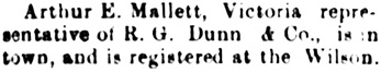 Nanaimo Daily News, July 17, 1899, page 4, column 3.