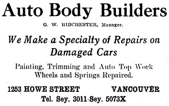 Vancouver Daily World, March 20, 1920, page 18, columns 6-7.