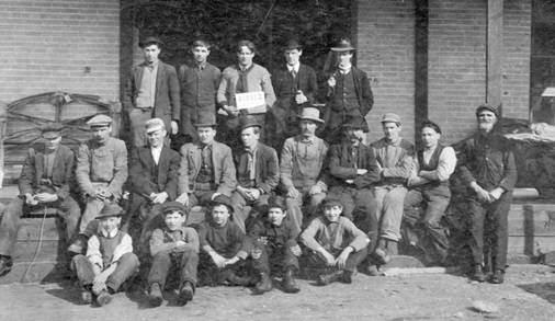 Group portrait of B.C. Bedding and Upholstery Co. (1043 West Pender Street) employees, 1906 or 1907; Vancouver City Archives; Item: Indust P21; https://searcharchives.vancouver.ca/group-portrait-of-b-c-bedding-and-upholstery-co-1043-west-pender-street-employees.