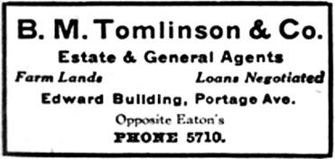 Henderson's Winnipeg city directory for 1907, page 1033, column 1; http://peel.library.ualberta.ca/bibliography/921.3.8/1011.html.