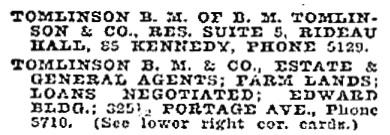 Henderson's Winnipeg city directory for 1907, page 1075, column 1; http://peel.library.ualberta.ca/bibliography/921.3.8/1051.html.