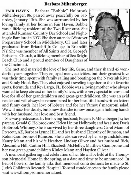 Asbury Park Press (Asbury Park, New Jersey), January 16, 2018, page A9, columns 1-2.