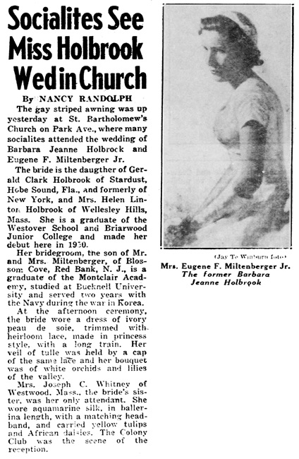 Daily News (New York, New York), May 13, 1956, page 33, column 1.