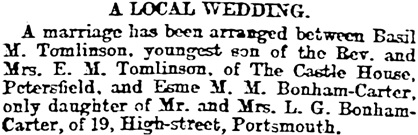 Portsmouth Evening News (Portsmouth, England), December 2, 1904, page 3, column 4.