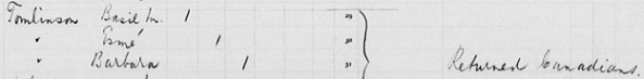 """""""Canada Passenger Lists, 1881-1922,"""" database with images, FamilySearch (https://familysearch.org/ark:/61903/1:1:2QS2-XKJ : 11 March 2018), Basil M Tomlinson, Jun 1909; citing Immigration, Quebec City, Quebec, Canada, T-4760, Library and Archives Canada, Ottawa, Ontario."""