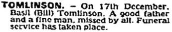 The Times (London, England), January 3, 1983, page 20, column 2.
