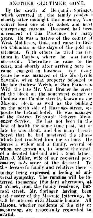 Vancouver Daily World, April 2, 1898, page 5, columns 1-2.