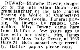 Vancouver Sun, April 20, 1953, page 29, column 3.