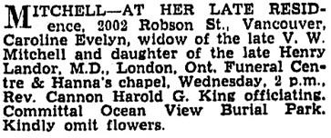 Vancouver Sun, June 15, 1936, page 9, column 2.