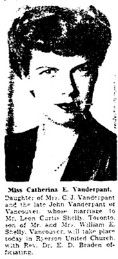 Toronto Globe and Mail, October 18, 1946, page 14, column 5.