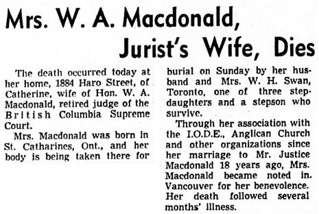 Vancouver Sun, November 16, 1940, page 16, columns 5-6.
