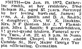 Vancouver Sun, January 21, 1952, page 17, column 3; https://news.google.com/newspapers?id=aBxlAAAAIBAJ&sjid=mYkNAAAAIBAJ&pg=1939%2C2813482 [link leads to column 2; death notice is in column 3].