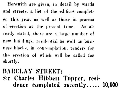Vancouver Daily World, September 30, 1899, page 3, column 3.