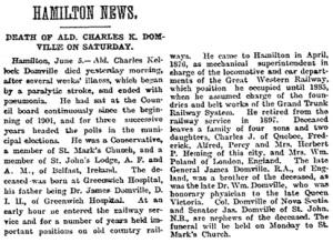 Toronto Globe, June 6, 1904, page 2, column 1.
