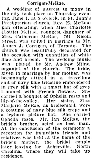 Vancouver Daily World, June 2, 1922, page 7, column 4.