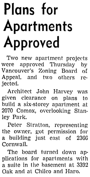The Vancouver Sun, June 19, 1953, page 27, column 2.