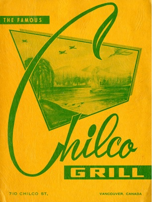 Chilco Grill menu, about 1948-1952; Museum of Vancouver; H2006.55.58; http://openmov.museumofvancouver.ca/object/history/h20065558.
