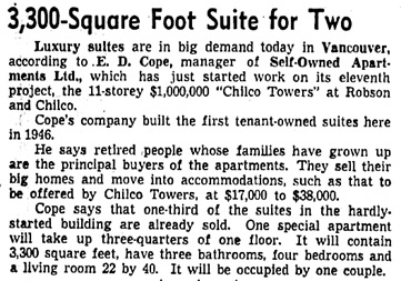 The Vancouver Sun, July 6, 1957, page 8, columns 1-2.