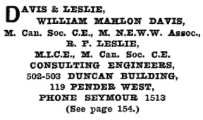 Henderson's Greater Vancouver City Directory, 1914, Part 1, page 769.