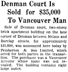 The Vancouver Sun, July 30, 1929, page 1, column 4.