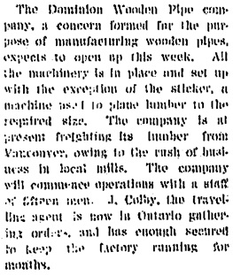 The Daily News (New Westminster, British Columbia), March 20, 1907, page 5, column 4; https://open.library.ubc.ca/collections/bcnewspapers/nwdn/items/1.0316567#p4z-2r0f: