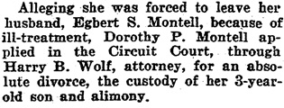 The Baltimore Sun (Baltimore, Maryland), July 7, 1922, page 5, column 4.