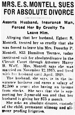 The Evening Sun (Baltimore, Maryland), July 6, 1922, page 14, column 4.