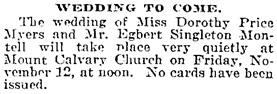 The Baltimore Sun, November 9, 1915, page 4, column 4.