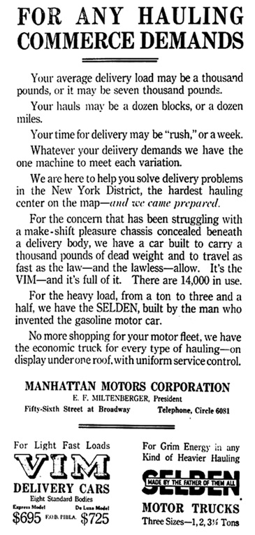 New York Tribune, April 2, 1916, page 10, columns 5-8.