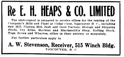 Vancouver Daily World, June 28, 1915, page 10, columns 1-2.