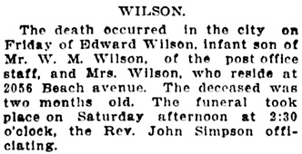 Vancouver World, May 6, 1907, page 6, column 6.