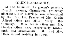 Vancouver Daily World, March 24, 1909, page 14, column 3.