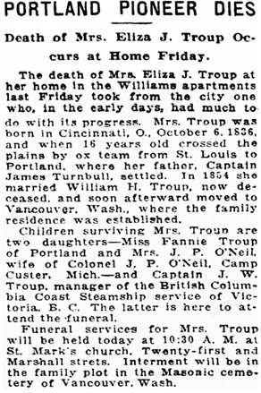 Morning Oregonian (Portland, Oregon), June 7, 1920, page 6, columns 2-3, https://oregonnews.uoregon.edu/lccn/sn83025138/1920-06-07/ed-1/seq-6/.