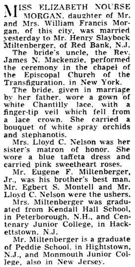 The Baltimore Sun (Baltimore, Maryland), November 25, 1951, page 128, column 3.