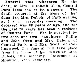 Vancouver Daily World, April 17, 1914, page 24, column 4.