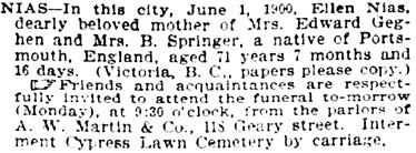 San Francisco Call, Volume 87, Number 3, 3 June 1900, page 30, column 4; https://cdnc.ucr.edu/cgi-bin/cdnc?a=d&d=SFC19000603.2.179.4&e=-------en--20--1--txt-txIN--------1.