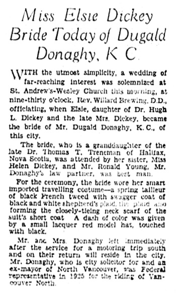 The Vancouver Sun, March 11, 1933, page 13.