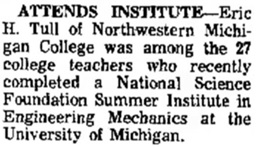 Traverse City Record-Eagle (Traverse City, Michigan), August 23, 1971, page 3, column 3.