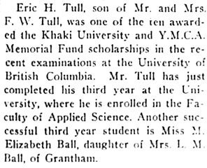 Nanaimo Daily News, May 14, 1930, page 4, column 4.