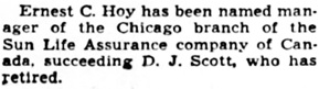 Chicago Tribune, December 28, 1940, page 17, column 4.