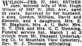 Vancouver Province, February 28, 1941, page 25; Vancouver Sun, February 28, 1941, page 19.