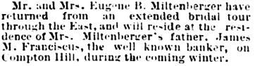St. Louis Post-Dispatch (St. Louis, Missouri), November 15, 1879, page 2, column 2.