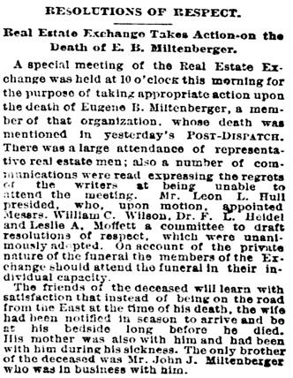 St. Louis Post-Dispatch (St. Louis, Missouri), July 7, 1887, page 1, column 6.